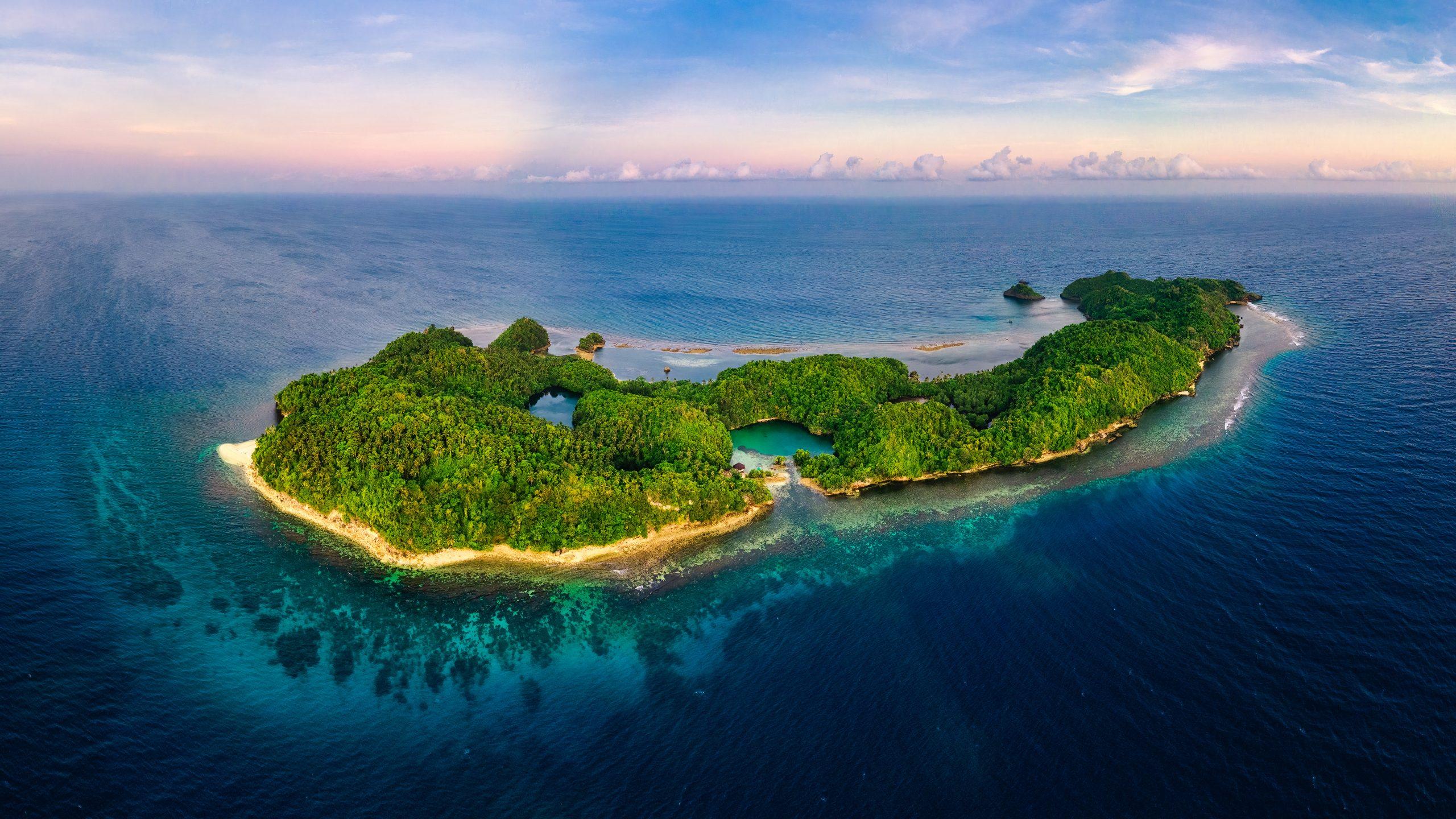 "color landscape photograph of Danjugan Island"", Philippines"