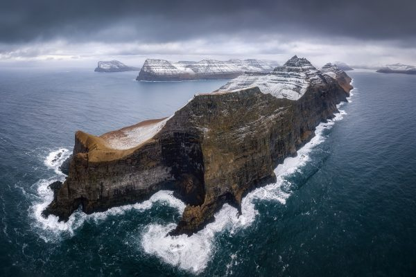 color landscape photograph of Vidoy, Faroe Islands