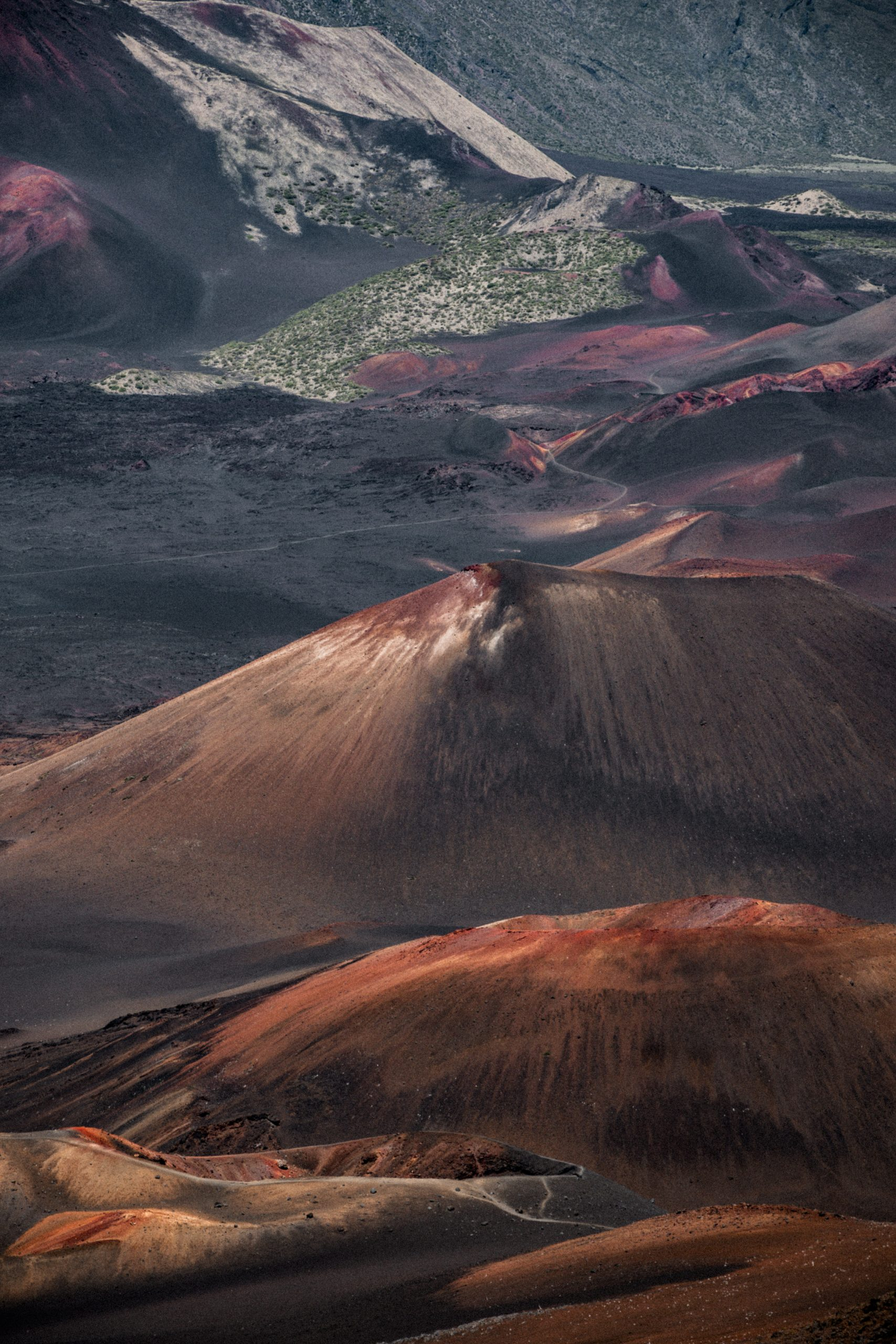 color landscape photograph of Volcanic Dunes in Maui island, Hawaii